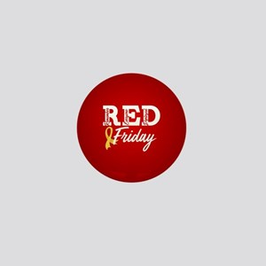 On Friday We Wear RED Mini Button