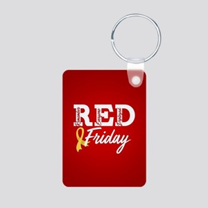 On Friday We Wear RED Aluminum Photo Keychain