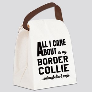 All I care about is my Border Col Canvas Lunch Bag