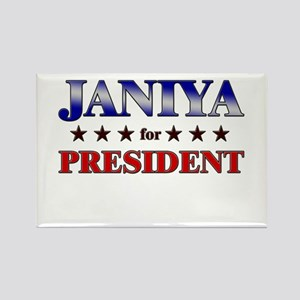 JANIYA for president Rectangle Magnet