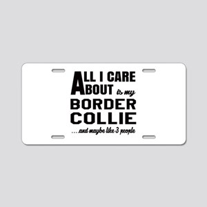 All I care about is my Bord Aluminum License Plate