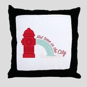 Hot City Throw Pillow