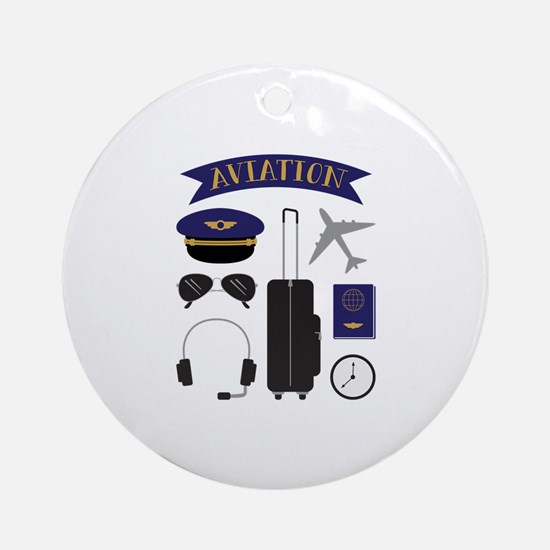 Aviation Pilot Round Ornament