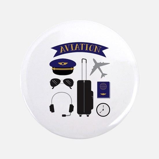 Aviation Pilot Button
