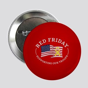 """RED Friday American Flag 2.25"""" Button (10 pack)"""