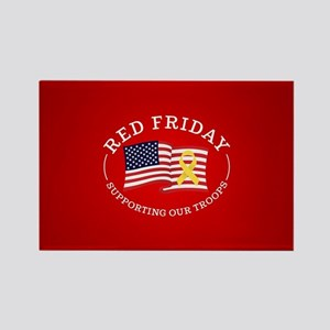 RED Friday American Flag Rectangle Magnet