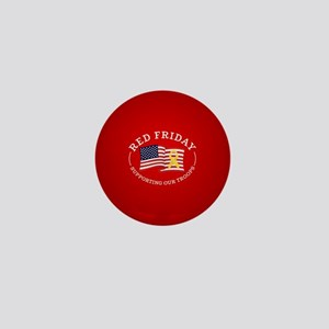 RED Friday American Flag Mini Button