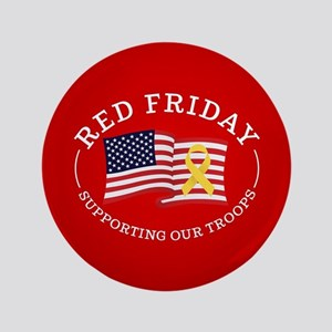 """RED Friday American Flag 3.5"""" Button"""