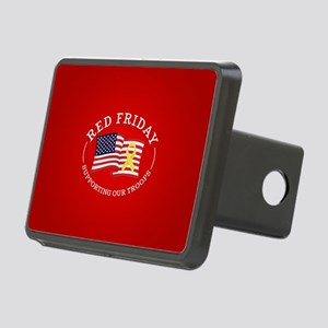 RED Friday American Flag Rectangular Hitch Cover