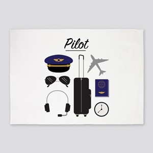Airline Pilot 5'x7'Area Rug
