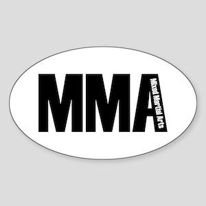 MMA - Mixed Martial Arts Oval Sticker
