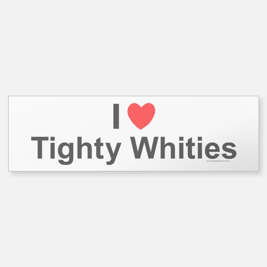 Tighty Whities Sticker (Bumper)
