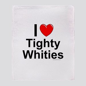 Tighty Whities Throw Blanket