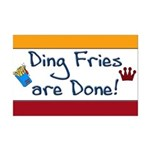 Ding Fries Are Done Mini Poster Print