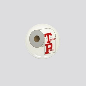 TP Toilet Paper Trump Pence Mini Button