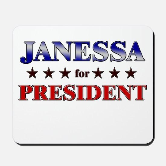 JANESSA for president Mousepad