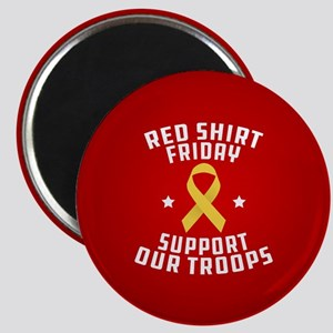 RED Shirt Friday Support Our Troops Magnet