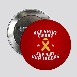 """RED Shirt Friday Support Ou 2.25"""" Button (10 pack)"""