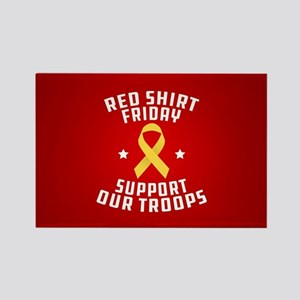 RED Shirt Friday Support Our Troo Rectangle Magnet