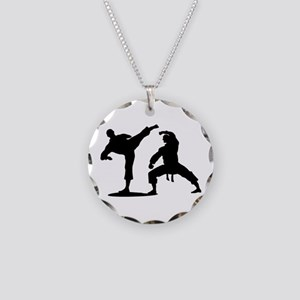 Martial arts Necklace Circle Charm