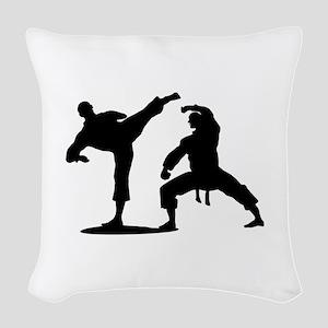 Martial arts Woven Throw Pillow