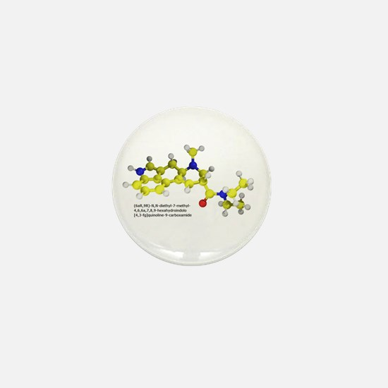 LSD Molecule Mini Button