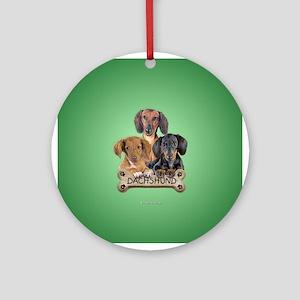 Dacshund Ornament (Round)