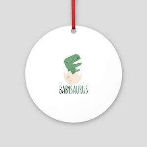 Babysaurus Round Ornament