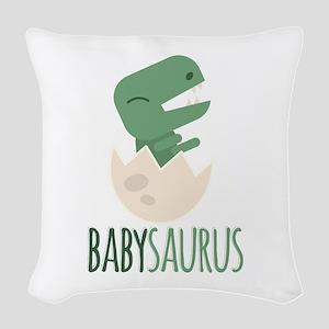 Babysaurus Woven Throw Pillow