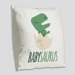 Babysaurus Burlap Throw Pillow