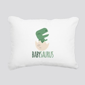 Babysaurus Rectangular Canvas Pillow