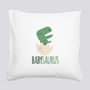 Babysaurus Square Canvas Pillow