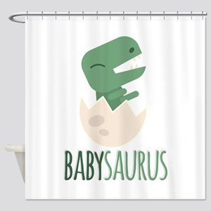 Babysaurus Shower Curtain