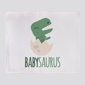 Babysaurus Throw Blanket