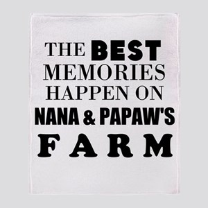 The Best Memories Happen On Farm: Throw Blanket