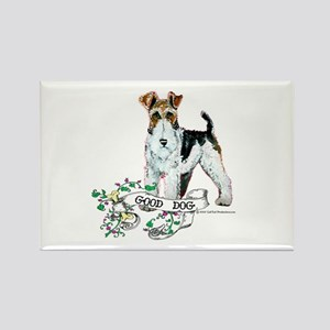 Fox Terrier Good Dog Rectangle Magnet