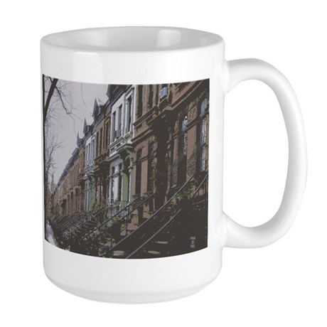 Park Slope, Brookyn Brownstones - Large Mug