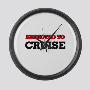 Addicted to Cruise Large Wall Clock