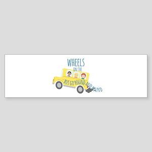 Wheels On Bus Bumper Sticker