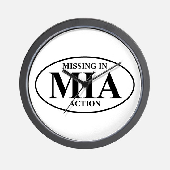 MIA Missing In Action Wall Clock