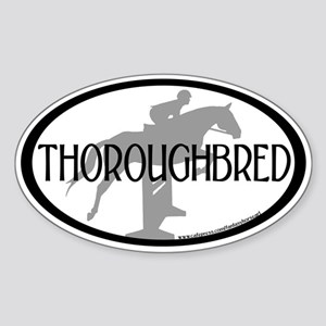 Hunter Jumper O/F (Thoro... text) Oval Sticker
