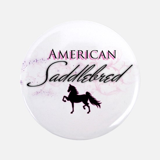 "Cute American saddlebred 3.5"" Button"
