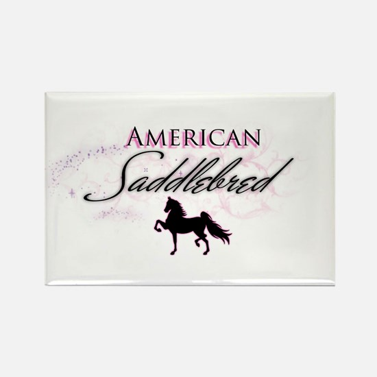 Cute American saddlebred Rectangle Magnet
