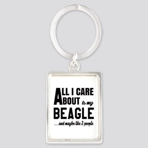 All I care about is my Beagle Do Portrait Keychain
