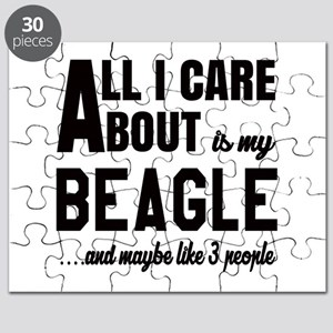 All I care about is my Beagle Dog Puzzle