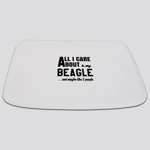 All I care about is my Beagle Dog Bathmat