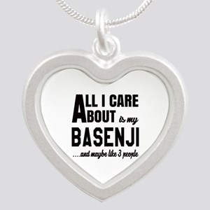 All I care about is my Basen Silver Heart Necklace