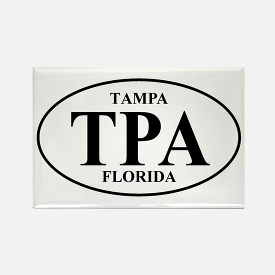 TPA Tampa Rectangle Magnet