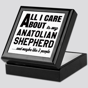 All I care about is my Anatolian Shep Keepsake Box