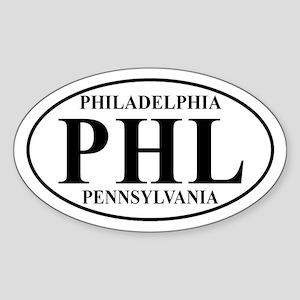PHL Philadelphia Oval Sticker